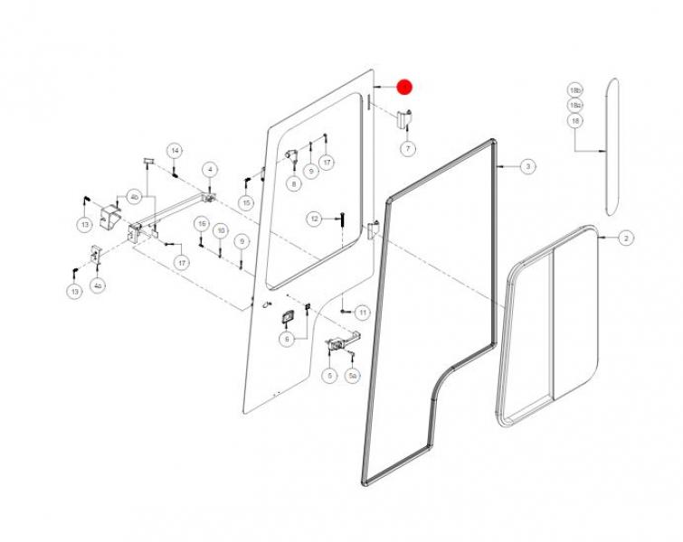 Дверь кабины в сборе HMC00032