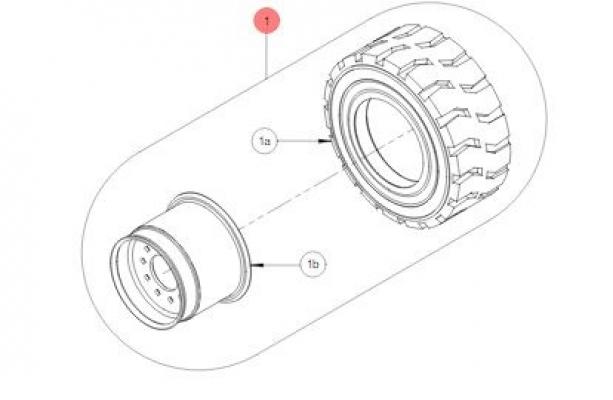 Переднее колесо в сборе CPW00027