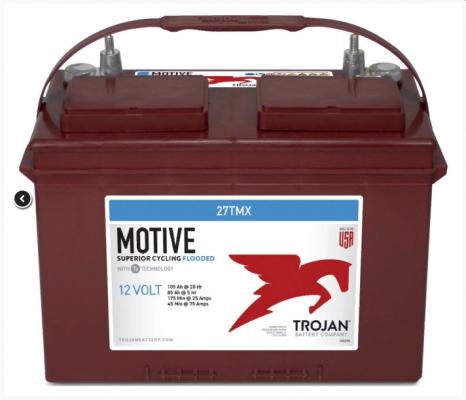 Аккумуляторная батарея тяговая Trojan 27TMX 12V/105Ah Страна производства: США